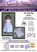 46cm Doll Play PJs - In the Hoop - Machine Embroidery Designs