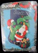 Bucilla Santa and Dino Felt Christmas Stocking Kit #83154