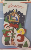 Bucilla Away in a Manger Felt Christmas Stocking Kit #82821