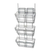 """Safco - Panelmate Triple-File Basket Organiser 15 1/2 X 29 1/2 Charcoal Grey """"Product Category"""