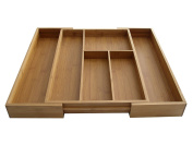 Axis Bamboo Expandable Drawer Organiser, 42cm - 50cm