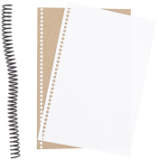 Sax Spiral Bound Sketchbook and Journal Making Kit - 15cm x 23cm - 30 Packs of 30 Pages each