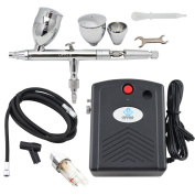 OPHIR Pro Mini 0.5mm Dual Action Airbrush Air Compressor Kit for Body Hobby Tattoo Cake Paint