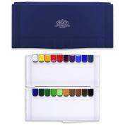 CrushOn@ Mission Silver Class Super size PANS Watercolours 12ml x 20 Colours with Palette Set by CrushOn