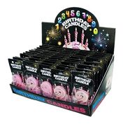 JT Party Supplies Numbered Birthday Candles Counter Top Display