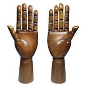 Kukin Wooden hand mannequin, Hand model for jewellery display
