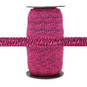 100 Yards - Hot Pink Zebra - 1.6cm Fold Over Elastic - ElasticByTheYard