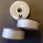 #69 Bonded Nylon M-style Bobbins(1 gross) - White
