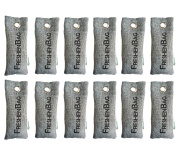 FreshenBag All Natural Deodorizer - Eco Friendly Odour Eliminator and Absorber - All Natural Activated Bamboo Charcoal Air Freshener and Shoe Deodorizer Bag - 12 Pack -