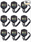 Amartshow pack of 10pcs/lot Digital Handheld Multi-function Professional Electronic Chronograph Sports Stopwatch Timer Stop Watch
