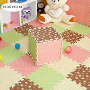 Soft Foam Anti-slip Game Play Mat Jigsaw 36pcs Kids Children Baby Toddlers Crawling Floor Puzzle Mat Carpet For Game/Play/Yoga/Gym/Sleep/Rest/Room Decoration,Suitable for Indoor and Outdoor,9 pieces 30 x 30 cm