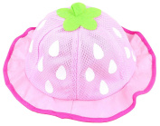 La Vogue Baby Girls Strawberry Mesh Bucket Hat Summer Princess Sunhat