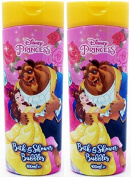 x2 Disney Princess Beauty & the Beast Bath and Shower Bubbles 400ml