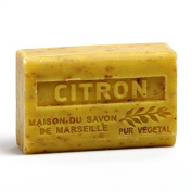 French Soap, Traditional Savon de Marseille - Crushed Lemon (Citron) 125g