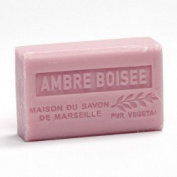 French Soap, Traditional Savon de Marseille - Amber wood (Ambre Boisee) 125g