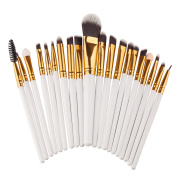 Sasairy 20 Pieces Makeup Brush Set Professional Face Brushes Cosmetics Blending Brush Tool Foundation Blush Lip Make up Brush Kit