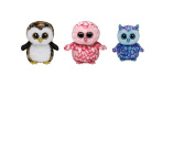 TY Beanie Boos Set of Small (15cm ) 3 Owls