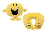 "Mr Men & Little Miss - Plush toy cushion MR.HAPPY yellow 12""/31cm - Quality super soft"