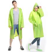 ArunnersTM Raincoats Men Women Waterproof Rainwear Long Rain Poncho With Hood Fruit Colour