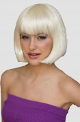 Platinum Blonde Bob Wig With Sparkles
