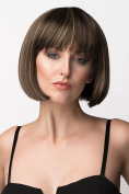 Brown Short Bob Wig With Blonde Highlights