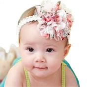 Gemini_mall® New Baby Flower Headband Girl Lace Infant Hair Weave Baby Accessories