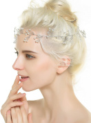 Aukmla Crystal Bridal Headband - Pearl Headpieces Wedding for Women and Girls