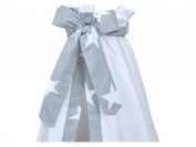 Minififia Bed Canopy Large White Stars on Grey