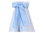 Minififia Bed Canopy Strips Light Blue Thin
