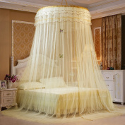 SINOTOP Round mosquito nets Luxury Princess Pastoral Lace Bed Canopy Net Crib Luminous butterfly
