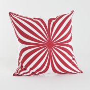SARO LIFESTYLE 996.R18S Eliza Pillow Collection Eliza Square Pillow, 46cm , Red