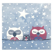 Children's Rug Happy Owl Rugs 140 x 140 cm Blue