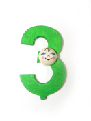 "'Number ""3, 70 x 40 x 20 NEW Wood German Birthday Number Letters"