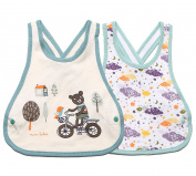 Meta-U® 2 Pack Three Layers Baby Crossover Straps Apron Drool Bibs