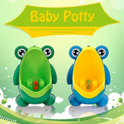 CALISTOUK Newest Frog with Wing Stand Design Baby Toilet Training Children Boy Potty Urinal Pee Trainer Urine Home Decor,Green Stand