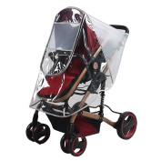 Transparent Stroller Rain Cover Dustproof Cold Wind Protector Weather Waterproof Shield for Baby High Landscape Strollers Pushchairs