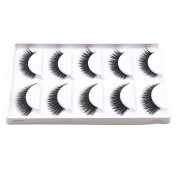 Bluelans® 5 Pairs Lady Beauty Makeup False Eyelashes Long Natural Eye Lashes Extension