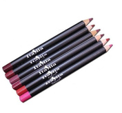 6 Colours Of Italy Deluxe Lip Liner Set and - Travel Size (5) Ultra Fine Pencils - Mighty Gadget Collection and by Mighty Gadget