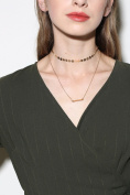Aukmla Necklace Chain with Sequins, Fashion Rectangle Pendant Choker for Women and Girls