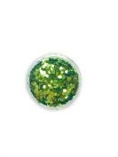 Chunky Light Green Emerald Confetti Mermaid Scale Glitter Metallic Sparkle Body Nail Art Hair Makeup Manicure Pedicure 5ml Pot