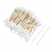 White Wooden Rod Double Ended Stick Cotton Buds Swabs 70 Pcs