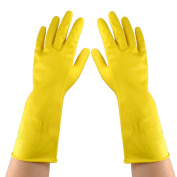 Water & Wood Nonslip Oil Water Resistant Clean Wash Working Long Latex Gloves Pair