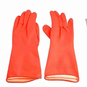 Pair Protective Nonslip Working Clean Latex Gloves 30cm Long