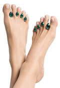 """Dip Into Pretty Silicone Toe Separators 8-Piece Spacers for Home and Salon Pedicures - """"Tears of Joy"""" - Tear Drop Gem Design (Turquoise) ..."""