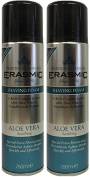 x2 Erasmic Traditional Skincare Shave Foam Aloe Vera Soothing 250ml