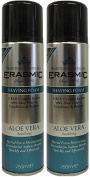 x2 Erasmic Traditional Skincare Shave Foam Aloe Vera Soothing 250ml
