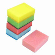 Rectangle Shaped Sponge Cleaning Pads 5 Pcs Multicolor