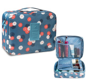 iSuperb® Toiletry Bags Floral Print Travel Kit Wash Bag Organiser Bathroom Storage Cosmetic Makeup Bag Waterproof for Women 23x18x9CM
