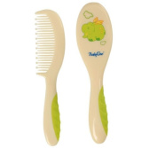 HAIR BRUSH AND COMB BabyOno Grooming Set Soft Gentle Brush and Comb 0m+ 226