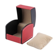 Leather Watch Box with Pillow Wrist Watch Box-Red